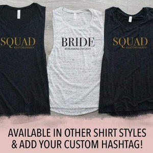 Bride and Squad with Hashtag Tank Top