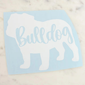 Bulldog Dog Mom Vinyl Decal