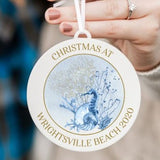 Christmas at the Beach Personalized Christmas Ornament