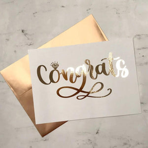 Signature Congrats Foiled Card and Envelope