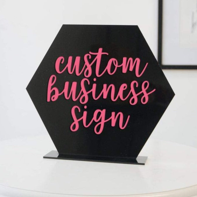 Custom Acrylic Sign for Boutiques & Small Businesses