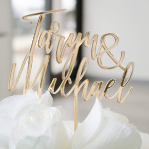 Custom Names Cake Topper