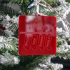 Family Name Stockings Engraved Christmas Ornament