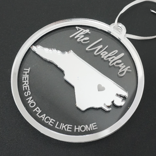 Personalized There's No Place Like Home Engraved Christmas Ornament