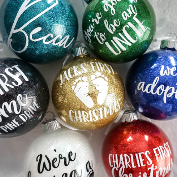 Custom Glitter Christmas Ornament