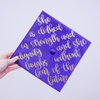 She is Clothed with Strength and Dignity Graduation Cap Decal