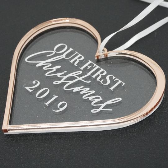 Our First Christmas Engraved Christmas Ornament