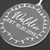 Family Name EST Engraved Christmas Ornament