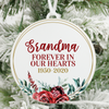 Grandma Forever In Our Hearts Christmas Ornament