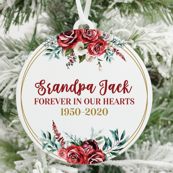 Grandpa Forever In Our Hearts Christmas Ornament
