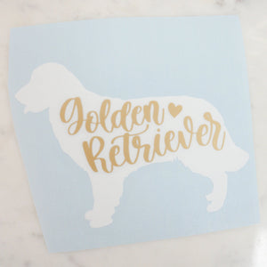Golden Retriever Dog Mom Vinyl Decal