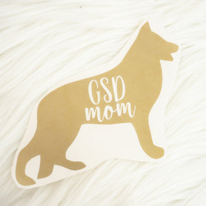 German Shepherd Dog Mom Vinyl Decal