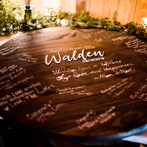 Wood Sign Guestbook Alternative
