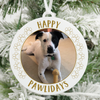 Happy Pawlidays Dog Photo Christmas Ornament