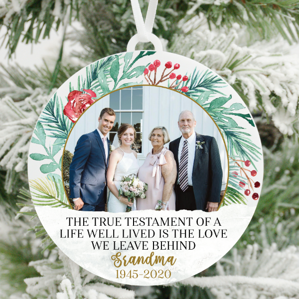 True Testament to a Life Well Lived Photo Christmas Ornament