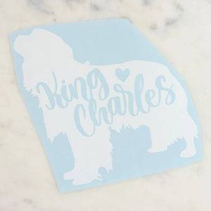 King Charles Dog Mom Vinyl Decal