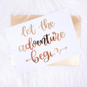 Let the Adventure Begin Foiled Card & Envelope