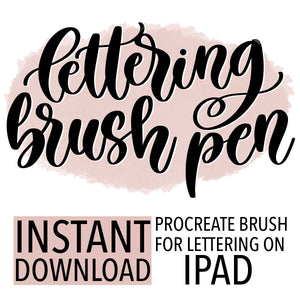 Procreate Hand Lettering Brush