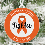 Kidney Cancer and Leukemia Fighter Christmas Ornament