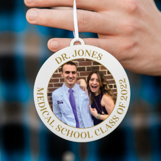 Personalized Medical Student Photo Christmas Ornament