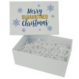 Navy Merry Quarantined Christmas Box Design