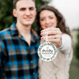 Mr and Mrs EST Personalized Christmas Ornament