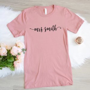 Personalized Mrs Shirt