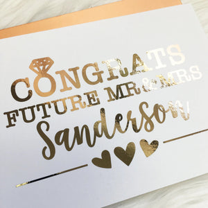 Personalized Congrats Foiled Card & Envelope
