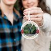 Save the Date Photo Christmas Ornament
