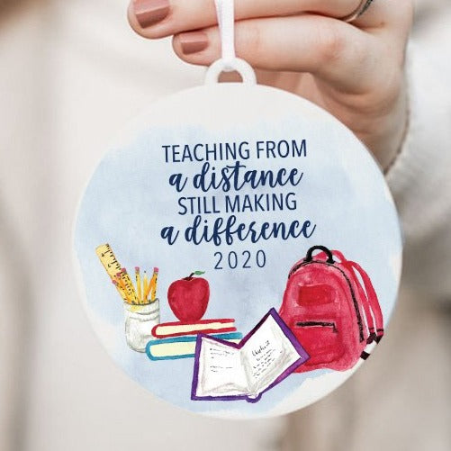 Teaching From a Distance Still Making a Difference Christmas Ornament