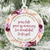 Memories too Beautiful to Forget Christmas Ornament