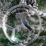Personalized Travel Engraved Christmas Ornament