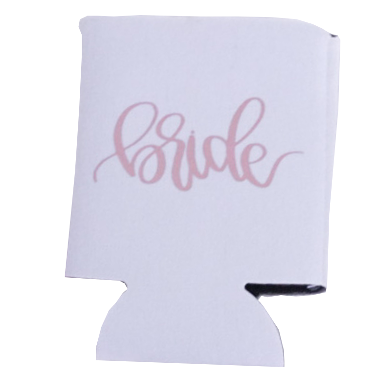 Rose Gold Bride Can Cooler