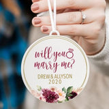 Will You Marry Me Personalized Proposal Christmas Ornament