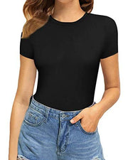 Short Sleeved Black Bodysuit