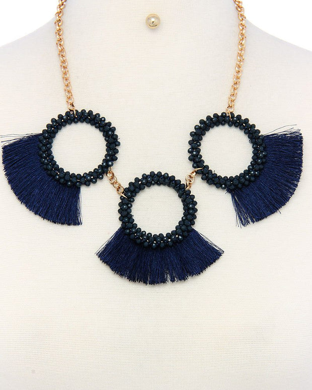 Stylish Fan necklace and earring set