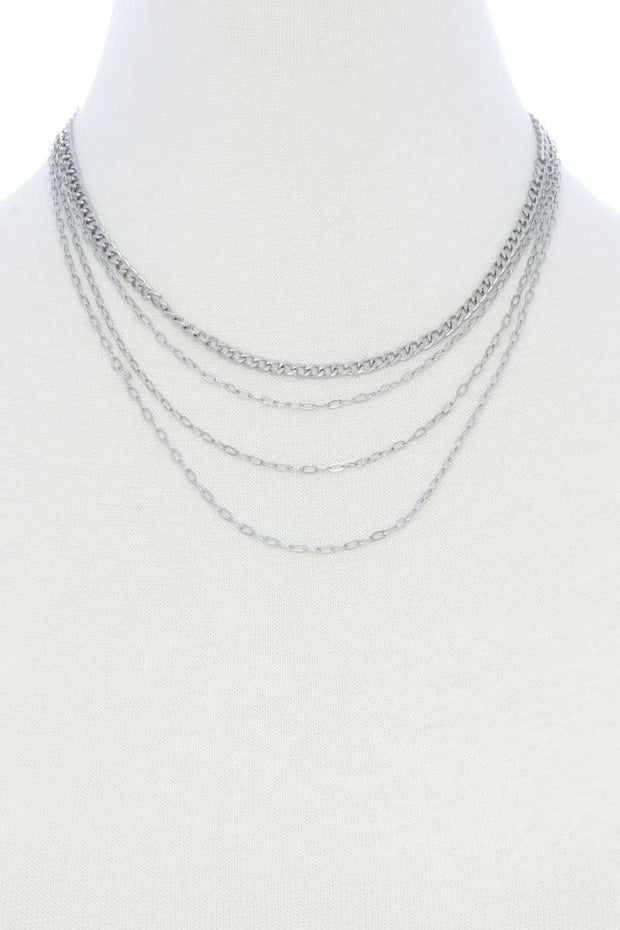4 Layer Metal Necklace