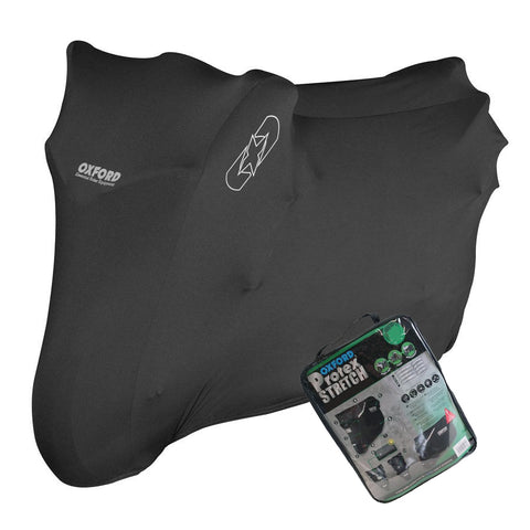 ZERO DS Oxford Protex Stretch CV171 Water Resistant Motorbike Black Cover