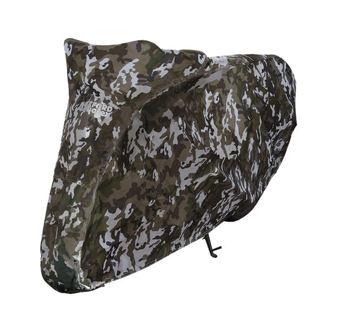 ZERO upto 750cc Oxford Aquatex Camo CV212 Waterproof Motorbike Camo Cover