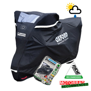 BMW F800GS Adventure Oxford Stormex CV332 Waterproof Motorbike Black Cover