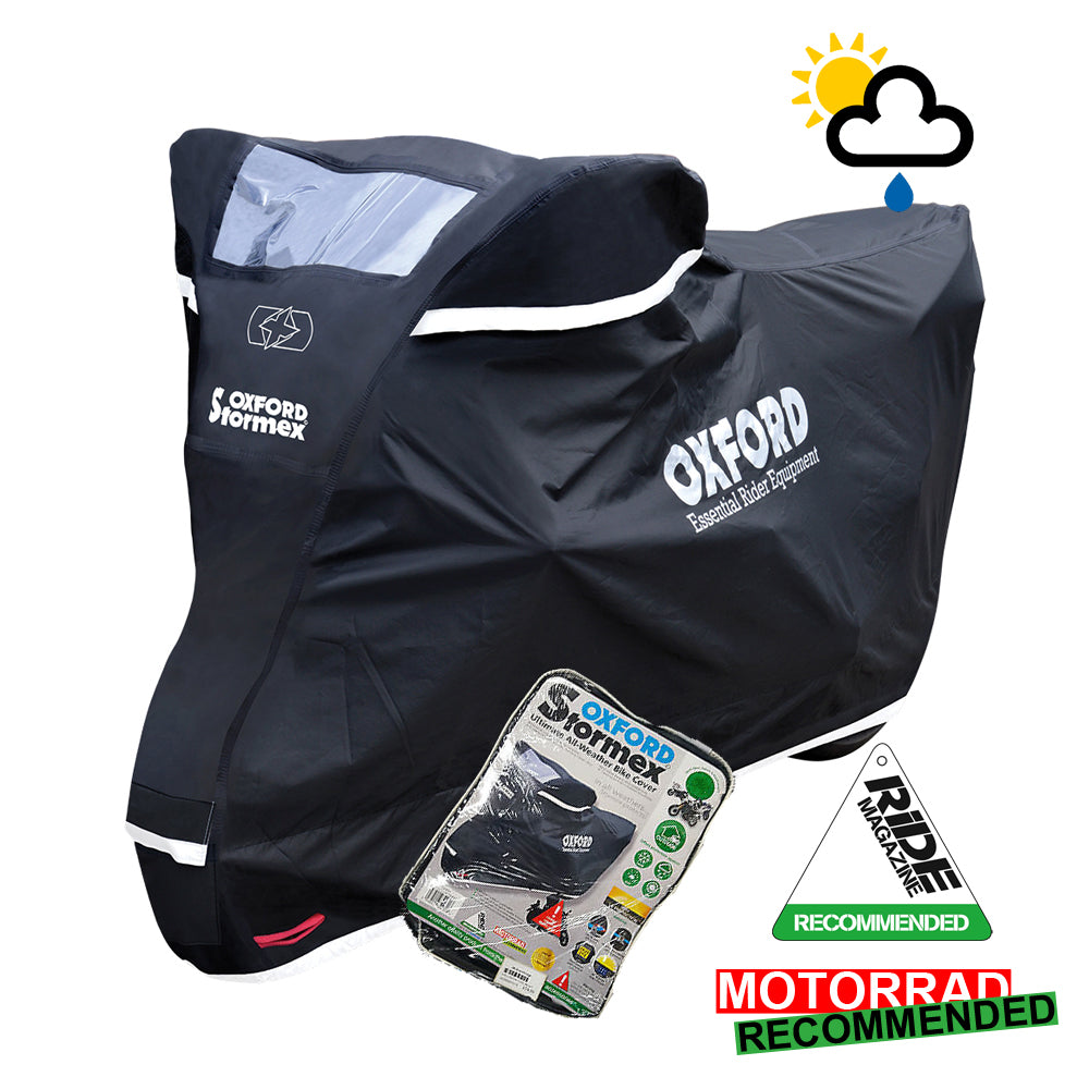 Triumph Trophy 900 Oxford Stormex CV332 Waterproof Motorbike Black Cover