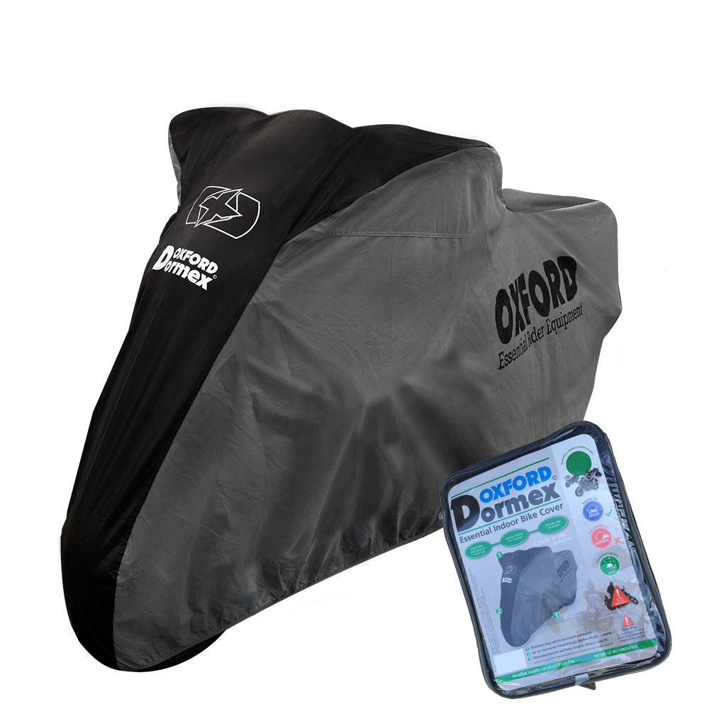 Beta Upto 750cc Oxford Dormex CV402 Water Resistant Motorbike Grey & Black Cover