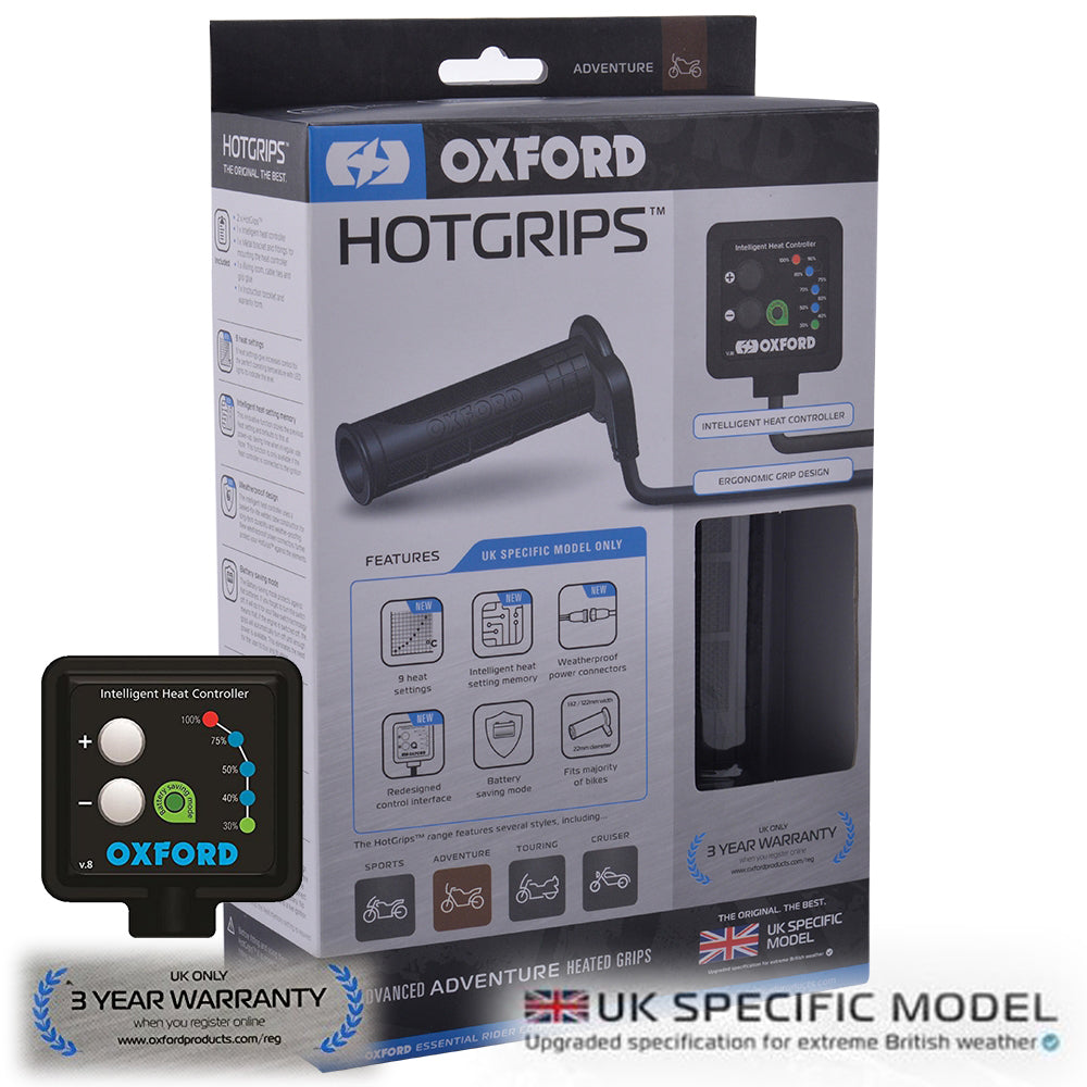Jotagas Jt300 Oxford EL690UK Adventure Heated Grips Hotgrips Motorcycle Motorbike Bike UK Spec