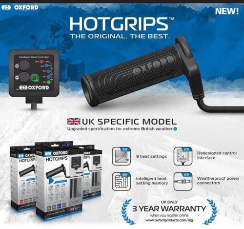 Generic Worx 125 Oxford EL690UK Adventure Heated Grips Hotgrips Motorcycle Motorbike Bike UK Spec