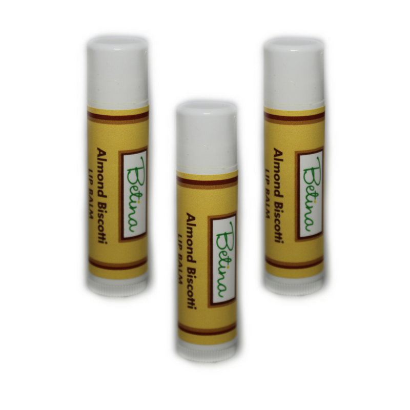 Betina Skin Care Almond Biscotti Natural Lip Balm Pack of 3