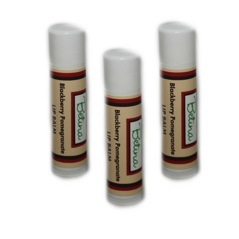 Betina Skin Care Blackberry Pomegranate Natural Lip Balm Pack of 3