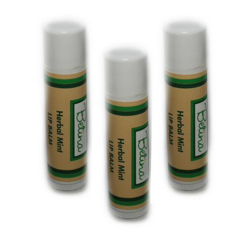 Betina Skin Care Herbal Mint Natural Lip Balm Pack of 3