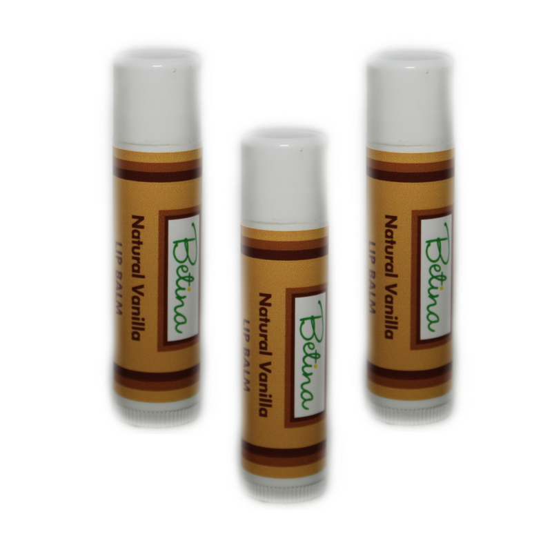 Betina Skin Care Natural Vanilla Lip Balm Pack of 3
