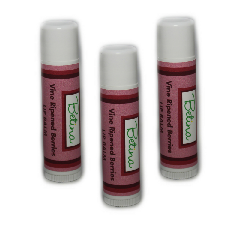Betina Skin Care Vine Ripened Berries Natural Lip Balm Pack of 3