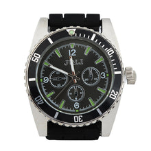 Black Zinc Alloy Wrist Watch w/ Tobacco Grinder